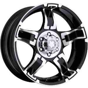 Ultra Drifter 17 Black Wheel / Rim 6x5.5 with a 10mm Offset and a 106 Hub Bore.