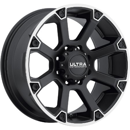 Ultra Spline 17 Black Wheel / Rim 6x5.5 with a 25mm Offset and a 106.1 Hub Bore.