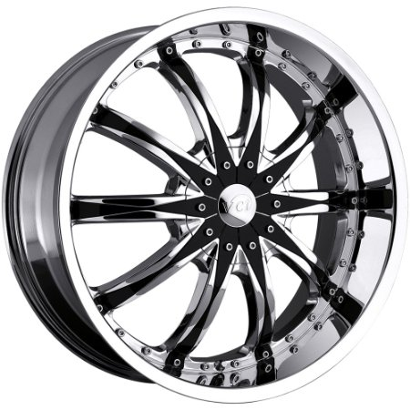 VCT WHEELS ABRUZZI CHROME/BLK.INSERT 5X115/5X120 +1 - 22X9