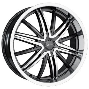 18x7.5 Veloche Air (575) (Black w/ Machined Face & Lip) Wheels/Rims 4x100/114.3 (575-8701B