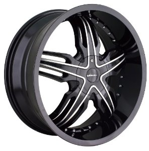 20x8.5 Veloche Solar (585) (Black w/ Machined Face & Lip) Wheels/Rims 5x112/115 (585-2806B
