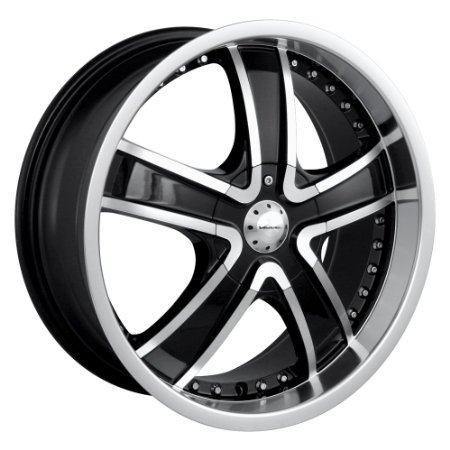 "Veloche Velvet 565 Black Wheel with Machined Face and Lip (18x7.5""/10x112mm)"