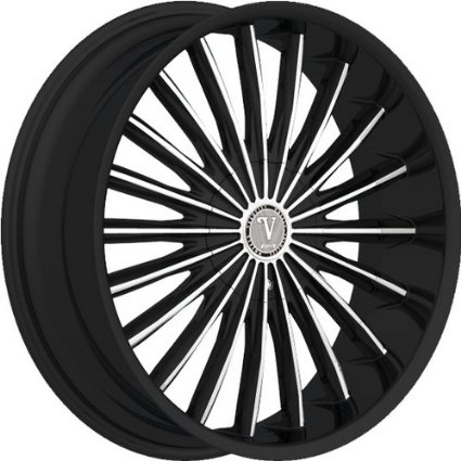 "22"" VELOCITY VW10 6X135/139 BLACK MACHINED WHEEL RIMS WITH LEXANI TIRES 255/30/22"
