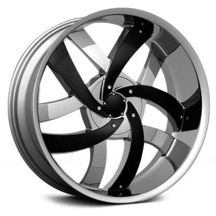 "24"" VELOCITY VW825 5X115/127 CHROME RIMS WITH LEXANI TIRES 255/30/24"
