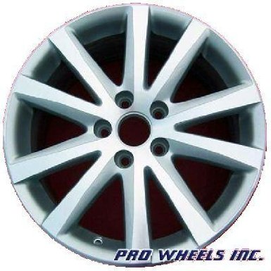 "Volkswagen Eos Passat 17X7.5"" Machined Silver Factory Original Wheel Rim 69828"