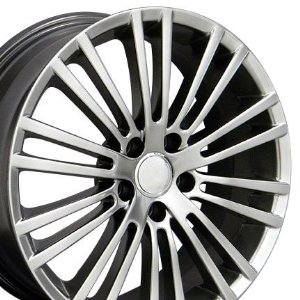 Wheels Fits VW Volkswagon - Hyper Black 18x7.5 Set of 4