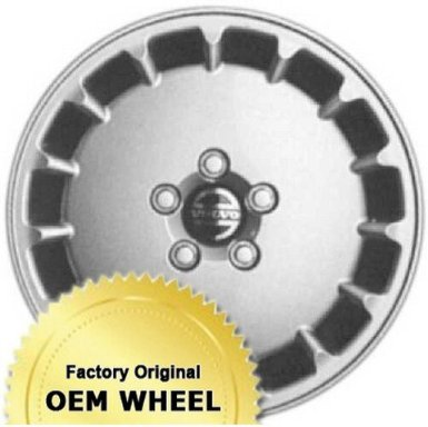 Volvo 960 16X6.5 5-108 15 Slot Factory Oem Wheel Rim - Silver Finish - Remanufactured