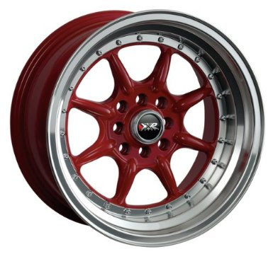 XXR 002 15x7 Red 4-100/4-114.3 +38mm Wheels