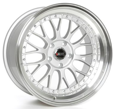 XXR 521 18x8.5 Hyper Silver 5-114.3 +25mm Wheels