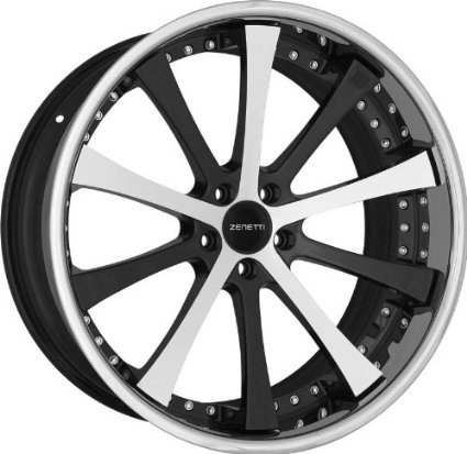ZENETTI - roma - 20 Inch Rim x 10 - (5x4.5) Offset (40) Wheel Finish - machined black