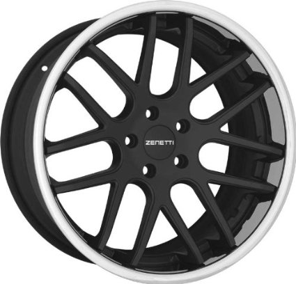 ZENETTI - torino - 20 Inch Rim x 10-(5x4.75) Offset (40) Wheel Finish - flat black chrome