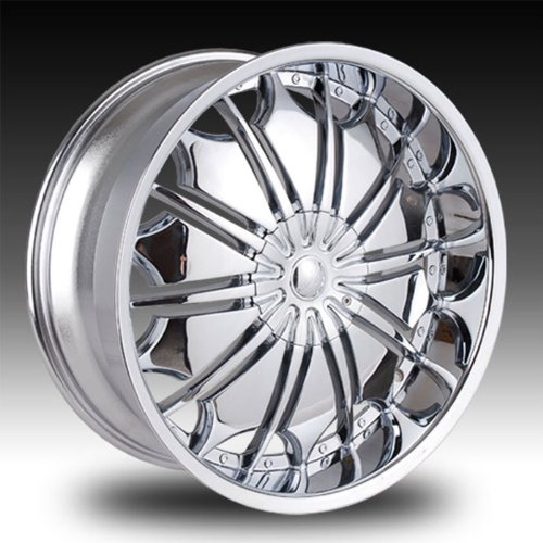 "Tyfun TF706 24x10"" Ford Expedition, Tyfun Chrome Rim for Chevrolet Impala SS Wheels"