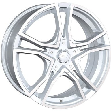 Akita AK85 17 Hypersilver Wheel / Rim 4x4.25 & 5x4.25 with a 42mm Offset and a 72.62 Hub