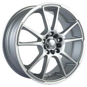 "Akita Racing AK35 435 Hyper Silver Wheel with Machined Lip (17x7""/10x100mm)"