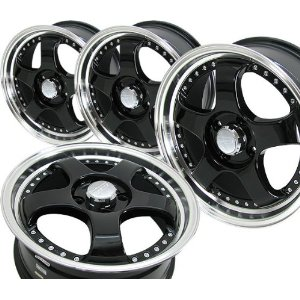 "17"" 4x114 Elite Black Rims"