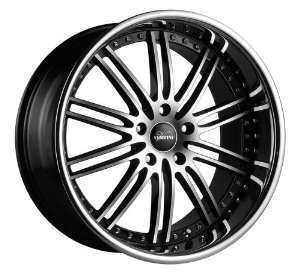 "Vertini Hennessey Rims Wheels 20x8.5"" 20x10"" BMW 3 Series Machined Black Chrome LIP 4pc-1s"